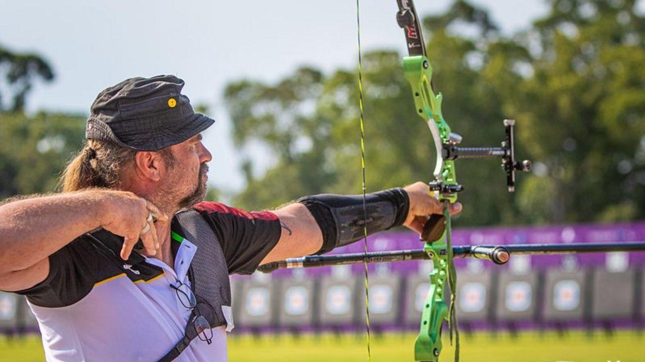 Foto: World Archery / Nach schwacher Qualifikation zeigte Maik Szarszewski in der Ko-Phase starke Leistungen und belohnte sich mit Platz sieben.